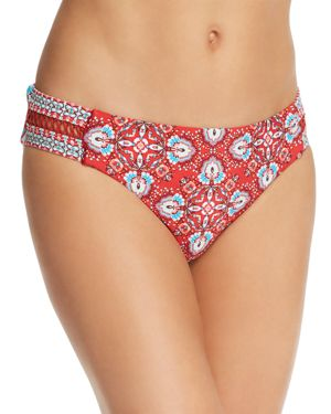 Laundry by Shelli Segal Lattice Tab Side Hip Bikini Bottom