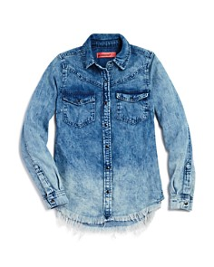 BLANKNYC Girls' Ombré Chambray Shirt - Big Kid - Bloomingdale's_0