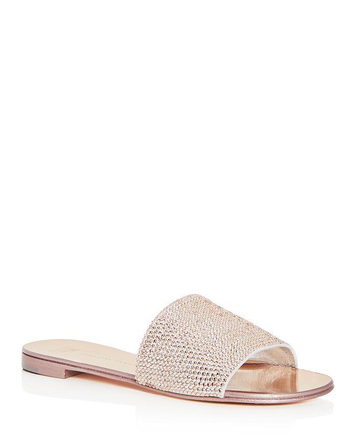 ff91968229e Giuseppe Zanotti Women s Swarovski Crystal Embellished Slide Sandals ...