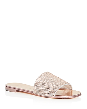 Giuseppe Zanotti Women's Embellished Leather Slide Sandals