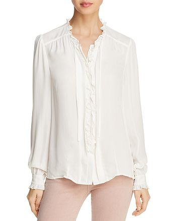 PAIGE - Honor Ruffled Silk Blouse