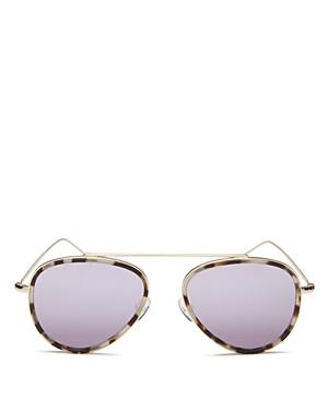 Illesteva Dorchester Mirrored Aviator Sunglasses, 52mm