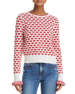 French Connection Kiss Print Sweater