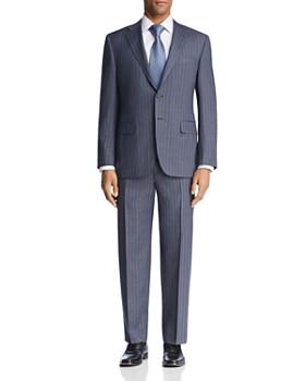 Canali - Beaded Multi Stripe Regular Fit Suit