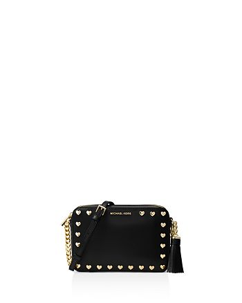 fcbdd5080eba MICHAEL Michael Kors Ginny Studded Medium Leather Camera Bag ...