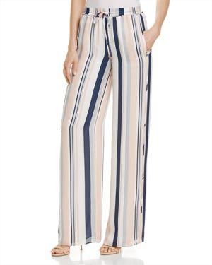 Ramy Brook Dorota Striped Silk Wide-Leg Pants