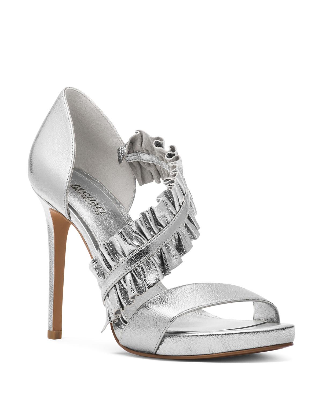 zM5Z3aecBS Womens Bella Ruffled Leather Platform High-Heel Sandals hMdu25X8