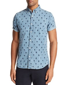 Sovereign Code Misty Palm Tree Short Sleeve Button-Down Shirt - 100% Exclusive - Bloomingdale's_0