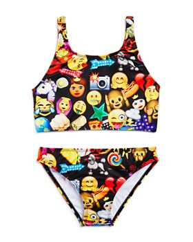 Terez - Girls' Mixed Emoji 2-Piece Swimsuit - Little Kid, Big Kid