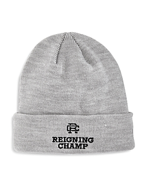 112da048e08 Reigning Champ Embroidered New Era Beanie In Heather Gray ...