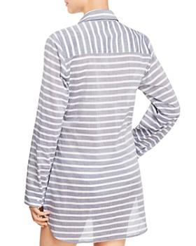 Tommy Bahama - Breton Stripe Boyfriend Shirt Swim Cover-Up - 100% Exclusive