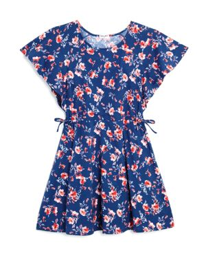 Splendid Girls' Floral Flutter-Sleeve Dress - Little Kid thumbnail