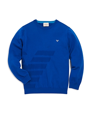 Armani Junior Boys Textured Logo Sweater  Little Kid Big Kid