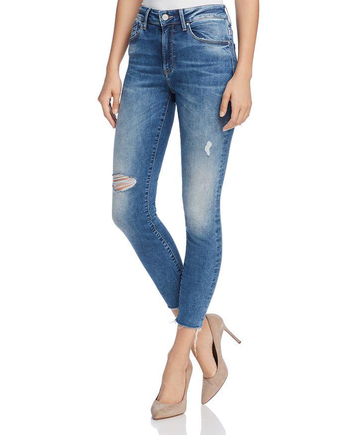 Mavi - Alissa Ankle High Rise Super Skinny Jeans in Shaded Random Nolita