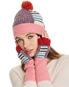 Burberry Patchwork Striped Beanie & Fingerless Gloves - Bloomingdale's_0