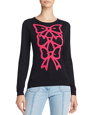 Boutique Moschino Bow-Graphic Silk & Cashmere Sweater