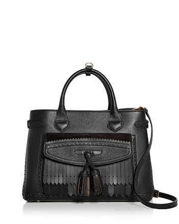 Burberry - Banner Medium Leather Tote