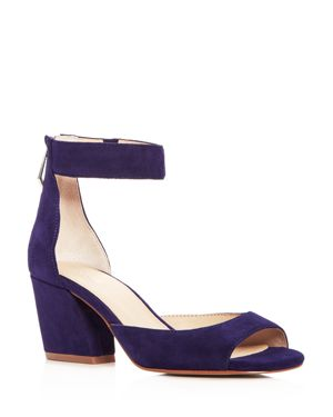 WOMEN'S PILAR SUEDE ANKLE STRAP BLOCK HEEL SANDALS