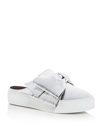 Rebecca Minkoff - Women's Neva Leather Platform Sneaker Mules
