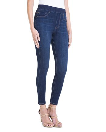 Liverpool - Farrah High-Waist Pull-On Legging Jeans in Dark Blue