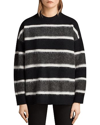 ALLSAINTS - Edi Striped Crewneck Sweater