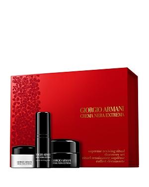 Giorgio Armani Crema Nera Extrema Supreme Reviving Ritual Discovery Gift Set ($275 value)