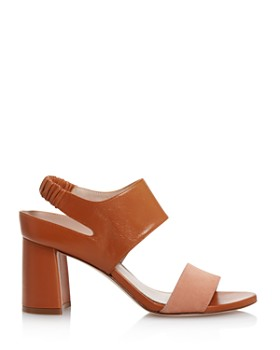 Stuart Weitzman - Women's Erica Suede & Leather Block Heel Sandals