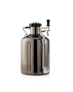 GrowlerWerks - 128 oz. Black Chrome uKeg