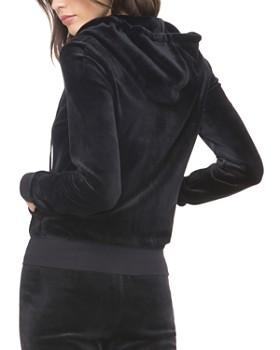 47b73fd6af69 ... Juicy Couture Black Label - Luxe Robertson Velour Hoodie