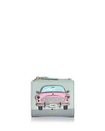 kate spade new york - Checking In Pink Car Adalyn Leather Wallet
