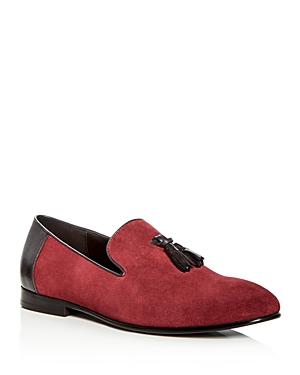 Tallia Men's Estefan Suede & Leather Tassel Smoking Slippers