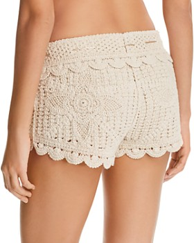 b7568a29b5c40 ... Surf Gypsy - Multicolored-Tassel Crochet Swim Cover-Up Shorts