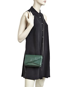 HALSTON HERITAGE - Grace Small Bow Convertible Leather Crossbody