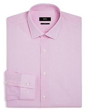 Boss Windowpane Micro Square Slim Fit Dress Shirt