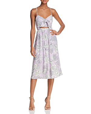 Bardot Ibiza Cutout Floral Midi Dress - 100% Exclusive
