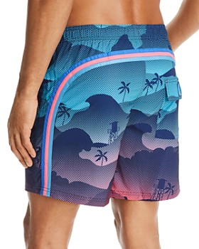 SUNDEK - Waves and Palms Swim Trunks