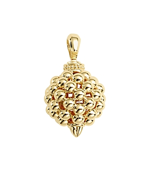 Lagos Caviar Gold Collection 18K Gold Pendant