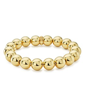 LAGOS - Caviar Gold Collection 18K Gold Beaded Bracelet, 12mm