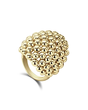 Lagos Caviar Gold Collection 18K Gold Dome Ring