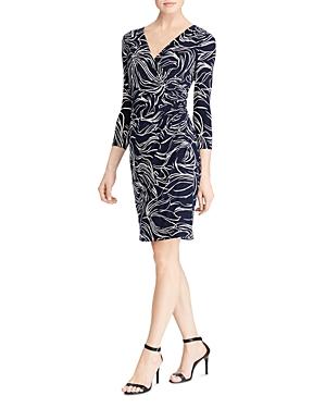 Lauren Ralph Lauren Printed Faux-Wrap Dress