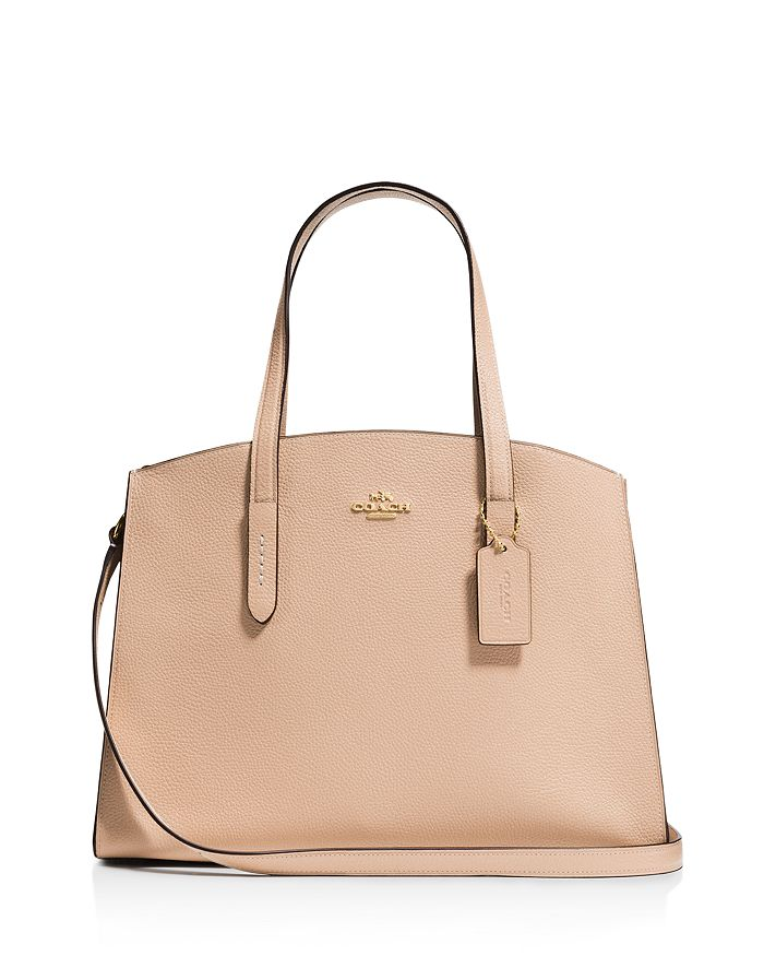 fe042464a COACH Polished Pebble Leather Charlie Carryall | Bloomingdale's