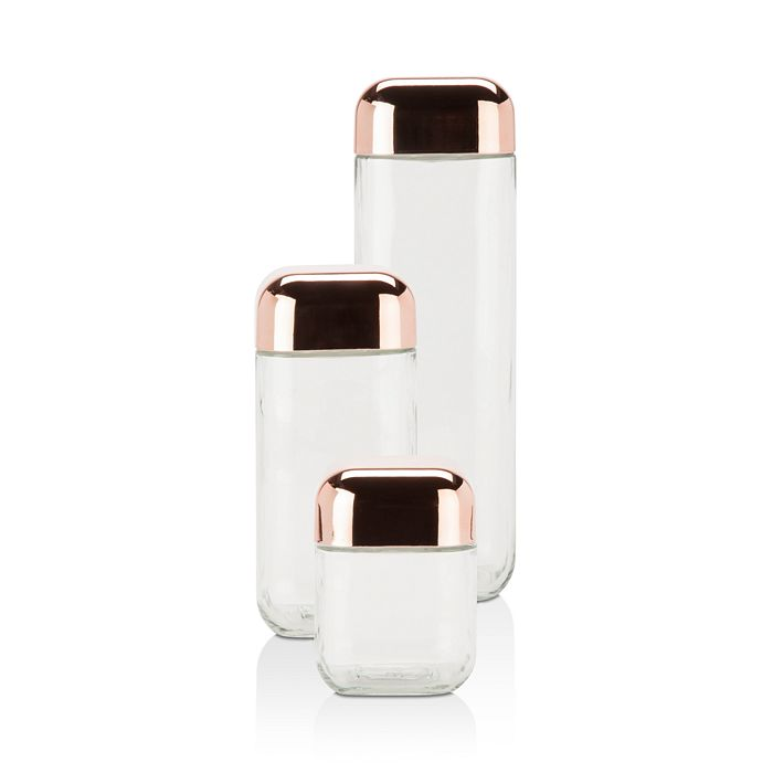 Honey Can Do - Square Storage Jar, Set of 3