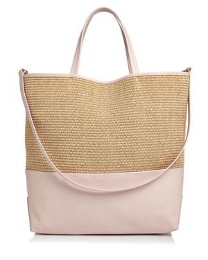 ALICE.D EXTRA LARGE LEATHER TOTE BAG - 100% EXCLUSIVE