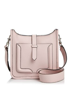 Mini Unlined Feed Leather Crossbody - 100% Exclusive, Peony/Silver