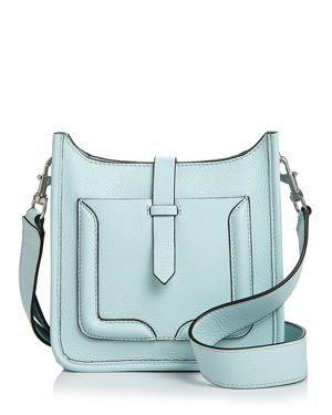 Mini Unlined Feed Leather Crossbody - 100% Exclusive, Aquamarine/Silver