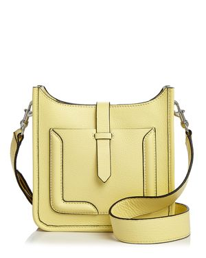 Mini Unlined Feed Leather Crossbody - 100% Exclusive, Soft Yellow/Silver