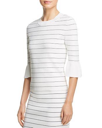 BOSS - Fenella Striped Bell Sleeve Top