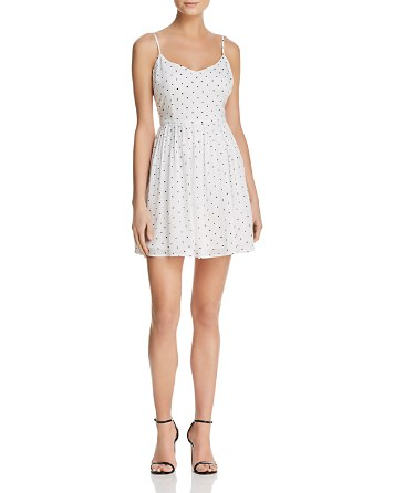 Sloane Polka Dot Fit And Flare Dress   100% Exclusive by Bb Dakota