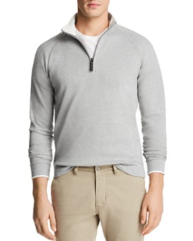 The Men's Store at Bloomingdale's - Tipped Quarter-Zip Long Sleeve Pullover - 100% Exclusive