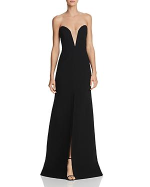 Jill Stuart Strapless Illusion Gown